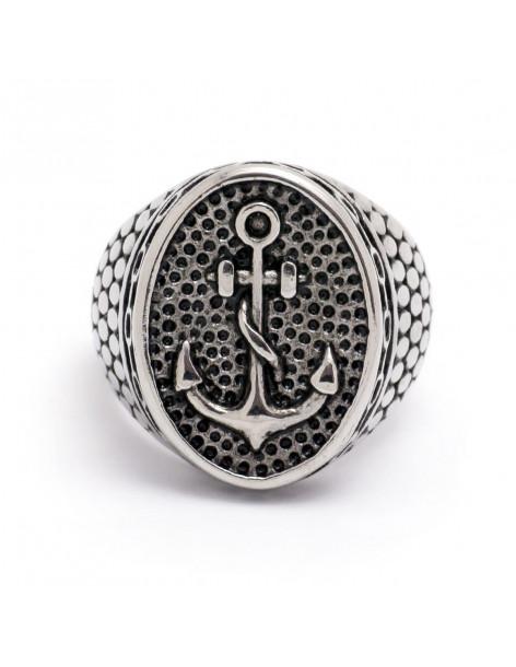 Δαχτυλίδι ανδρικό από ατσάλι ΑΓΚΥΡΑ