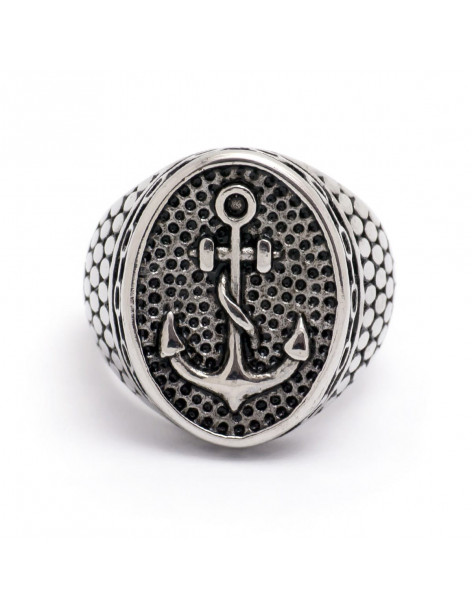 Men's ring from stainless steel ANCHOR
