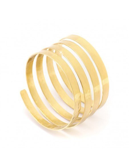 Greek Designer bangle bracelet gold SERIO