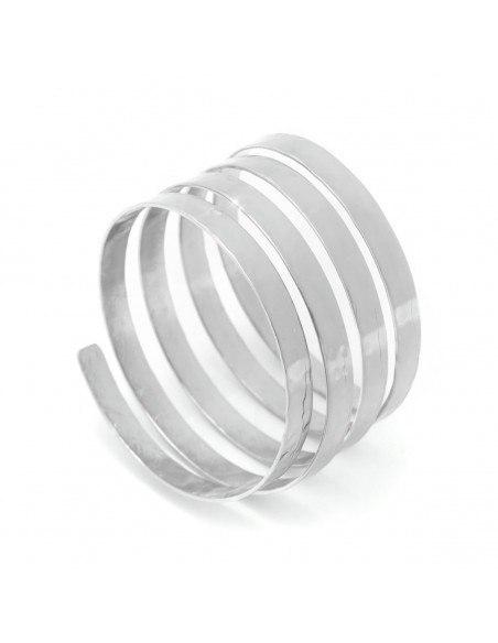Bracelet bronze silver plated SERIO