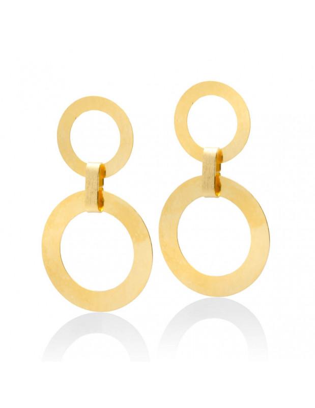 Große Ohrringe aus vergoldeter Bronze IASOS