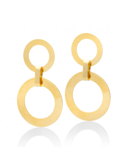 Statement earrings of gold plated bronze IASOS