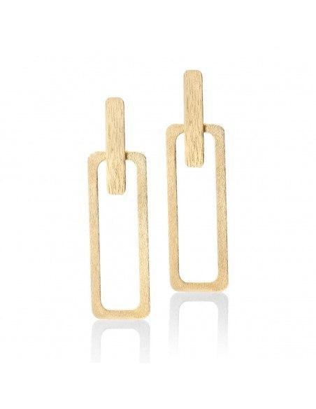 Long earrings of bronze handmade gold PRINCE
