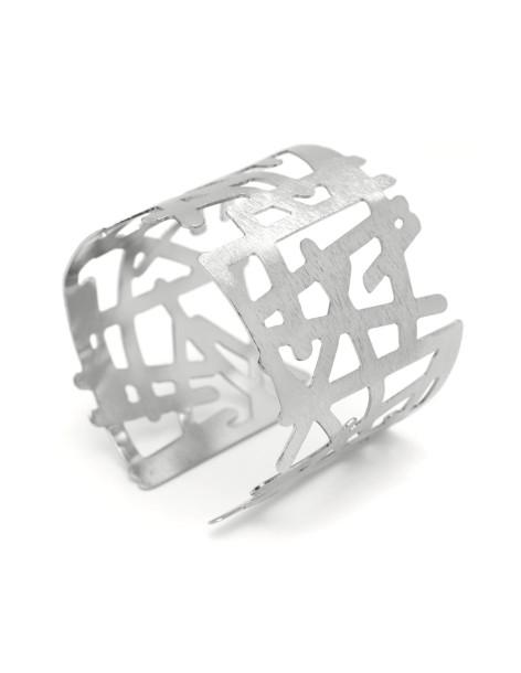 Greek designer bangle bracelet silver IAKO