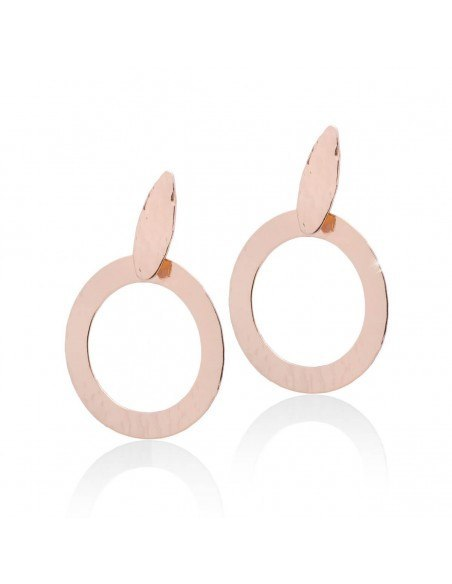 Earrings from rose gold plated bronze PERO