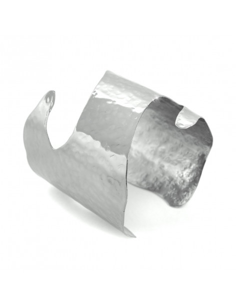 Bangle bracelet of silver plated bronze PLATO