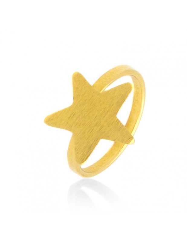 Ring bronze gold plated ASTERAKI