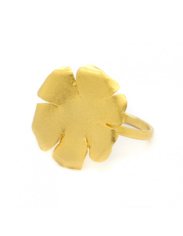 Δαχτυλίδι από μπρούτζο χειροποίητο χρυσό LAKI