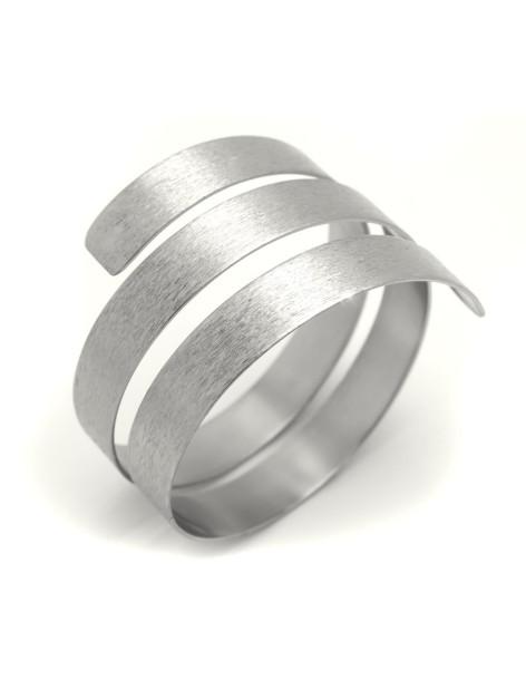 Bangle bracelet from silver plated bronze NEBO