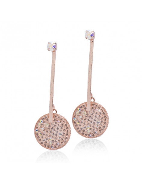 Lange Ohrringe mit Swarovski® Elements opal rosé gold DISI