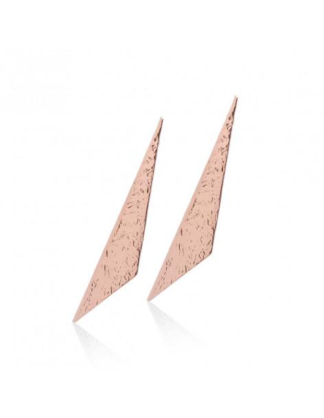 Earrings of bronze rose gold GEO