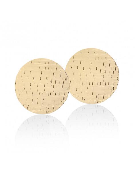 Large earrings of bronze handmade gold CORIN