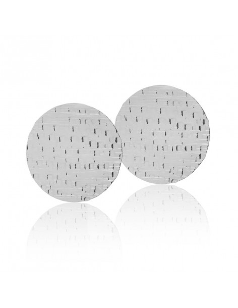 """Large stud earrings """"CORIN"""" from silver plated bronze"""