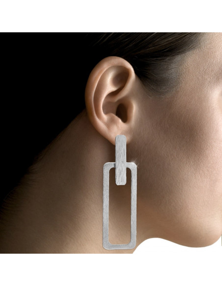 Lange Ohrringe aus handgefertigter Bronze PRINCE 2