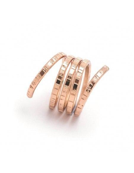 Δαχτυλίδι αρχαιοελληνικό ροζ επίχρυσο ROLLI