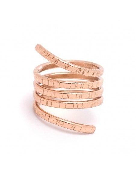 Δαχτυλίδι αρχαιοελληνικό ροζ επίχρυσο ROLLI 3