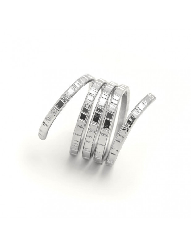 Griechischer Designer Ring versilbert ROLLI 4