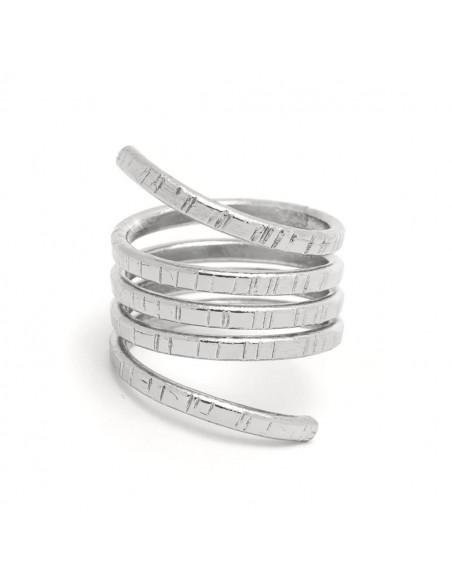 Griechischer Designer Ring versilbert ROLLI