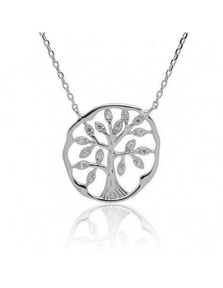 Silver Necklace life tree MARI