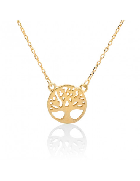 "Necklace sterling silver ""LIFE TREE"" gold plated ZEUS"