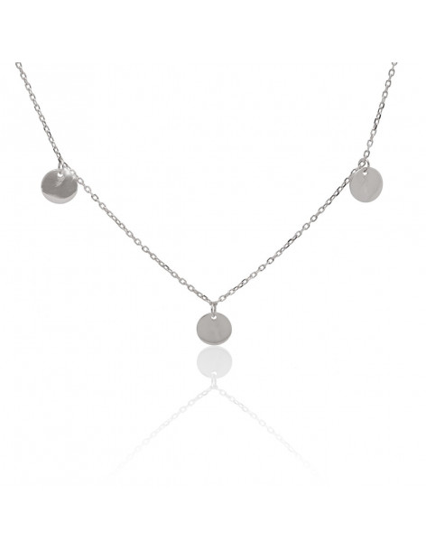 Necklace sterling silver with round coin pendants COIN