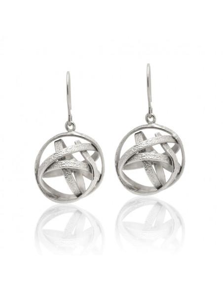 Ohrringe aus versilberter Bronze PLANITI O20140780