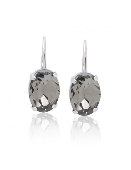 Ohrringe aus Bronze mit Swarovski® Elements silber ORILI