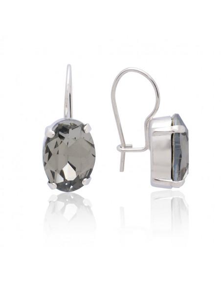 Σκουλαρίκια από μπρούτζο με Swarovski® Elements ζιργκόν ασημί ORILI 3