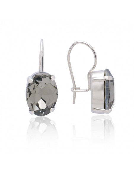 Earrings of bronze with Swarovski® Elements silver ORILI 3