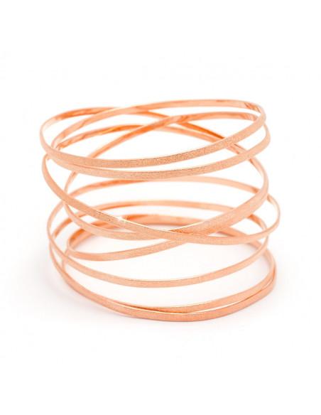 Greek Designer bangle bracelet rose gold VARKOULES 3
