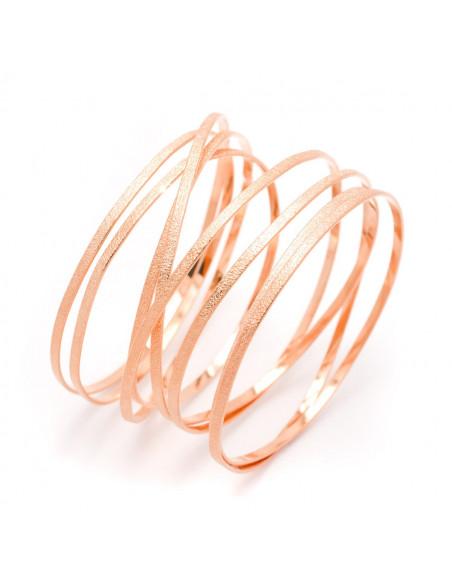 Greek Designer bangle bracelet rose gold VARKOULES