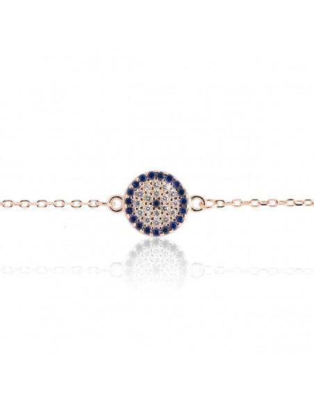 Nazar bracelet from rose gold plated silver 925 BALO