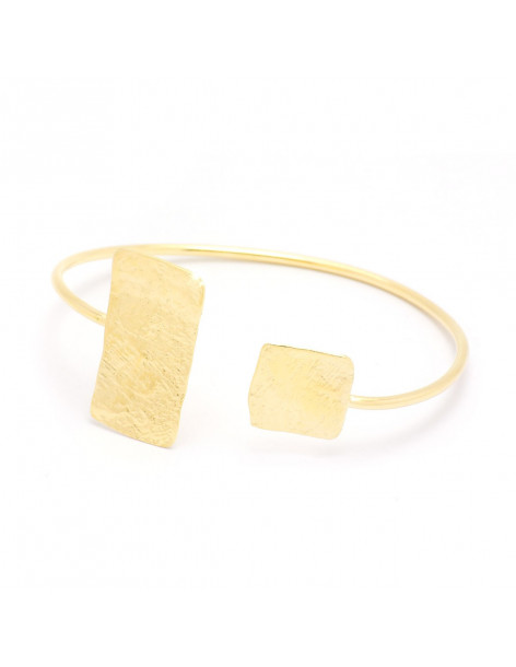 Bangle bracelet made from gold plated bronze PILOTA