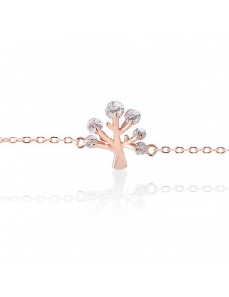 "Bracelet ""LIFE TREE"" from rose gold plated sterling silver A20141007"