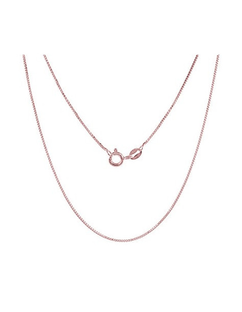 Silver chain 45cm rose gold plated VENI