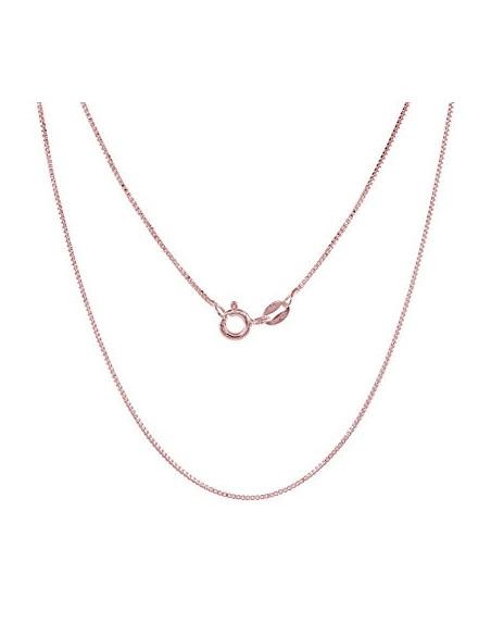 Ασημένια αλυσίδα 40 εκ. ροζ χρυσό VENI
