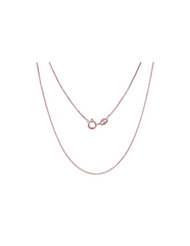Ασημένια αλυσίδα λαιμού σε ροζ χρυσό ασήμι 925 Μήκος 40cm Πάχους 1mm VENI