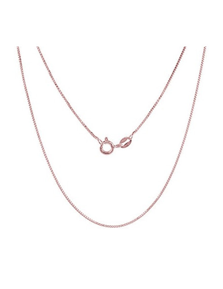 Silver chain 40cm rose gold plated VENI