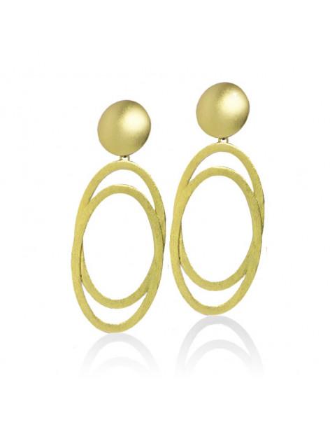 Große Ohrringe gold OVAL