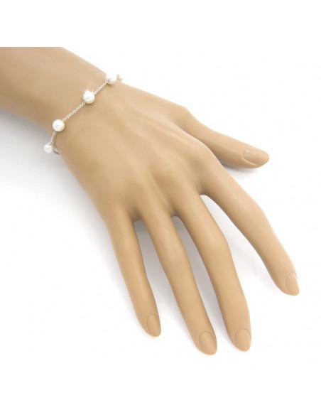 Pearl bracelet from stainless steel CHARLOTTE