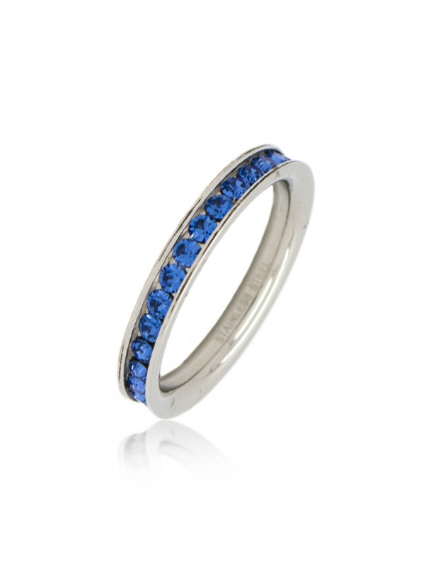 Ring with blue crystals SEIRA II