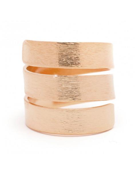 Δαχτυλίδι αρχαιοελληνικό ροζ επίχρυσο SIRIO