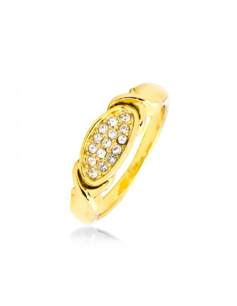 "RING ""JOIN"" 18K GELBGOLD VERGOLDET MIT SWAROVSKI® ELEMENTS STEINEN"
