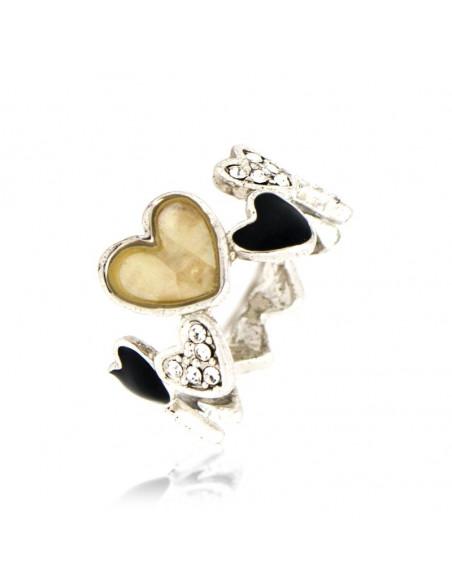 Δαχτυλίδι με καρδιά και ζιργκόν ασημί LAPITHES