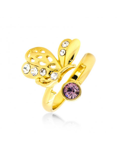 Ring with crystals gold LOUDA