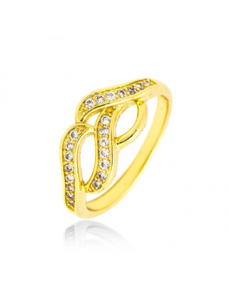 Ring with crystals gold NARZISS