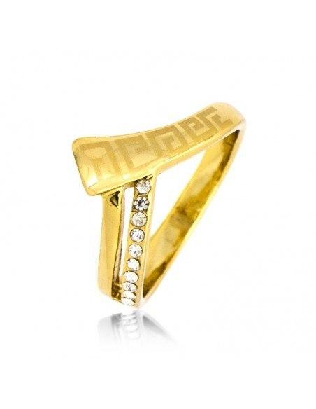 Ring mit Zirkonen gold HELENOS