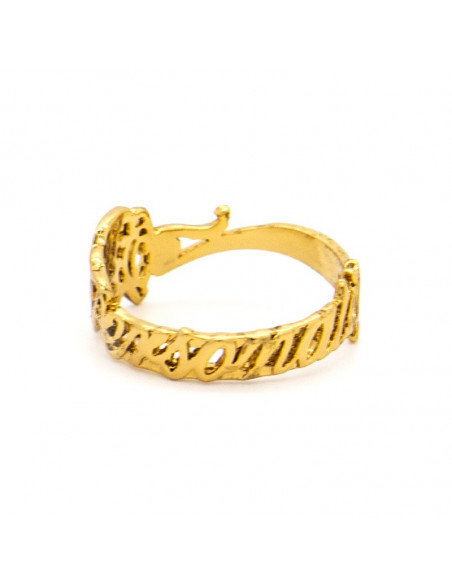 Ring with crystal gold PERSONALITY 3