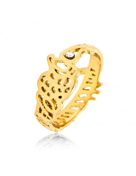 Ring with crystal gold PERSONALITY