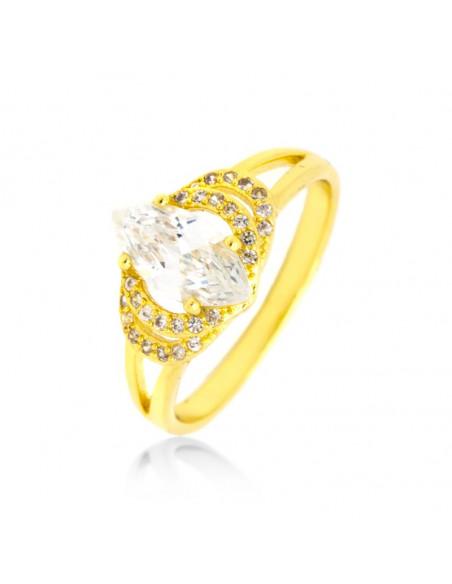Δαχτυλίδι με ζιρκγόν χρυσό HOLO